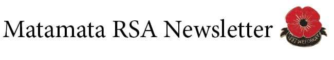 Matamata RSA Newsletter – March 2020